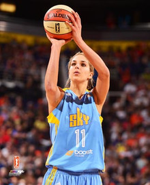 ELENA DELLE DONNE BEAUTIFUL COLOR 8x10 PHOTOGRAPH - CHICAGO SKY - WNBA