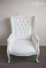 IN STOCK NOW: Ottoman - white leatherette (Only 1 left)