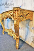 PRE ORDER: Gold Wall Table - marble top