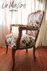 IN STOCK NOW:  Rose carved armchair - The Garden