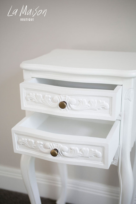 IN STOCK NOW: Bedside table - pure white