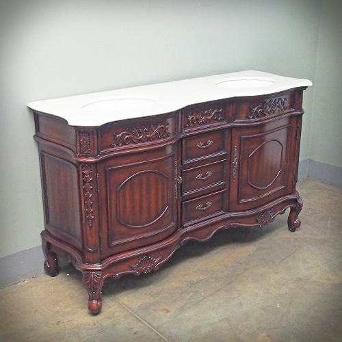 PRE ORDER: Bordeaux Double Bathroom Vanity - mahogany