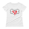 Dripping Heart for Elephant-Ladies' Scoopneck T-Shirt - White