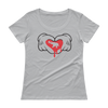 Dripping Heart for Elephant-Ladies' Scoopneck T-Shirt - Silver
