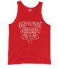 Tribal Head Unisex Tank Top - Red