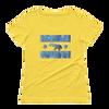 BLBLOCK-OUT Poaching-Ladies' Scoopneck T-Shirt - Lemon Zest