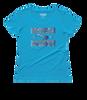 BLOCK-OUT Poaching-Ladies' Scoopneck T-Shirt - Caribbean Blue