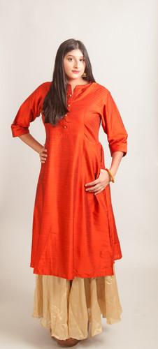 Orange Kurti (tunic),