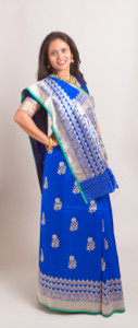 Blue Silk Saree