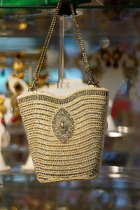 Cream pearl purse