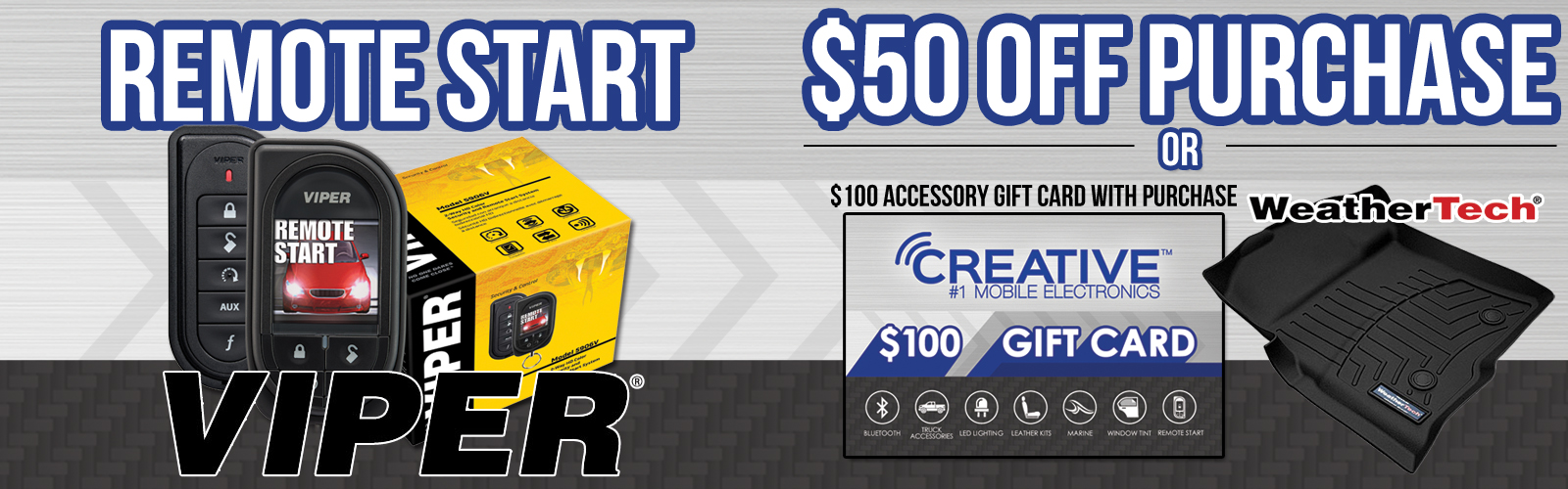 Buy a Remote Start Get a Free $100 WeatherTech Gift Card ...