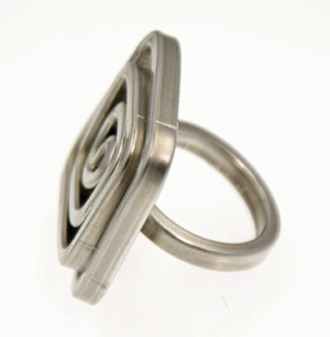 Recycled Aluminum Ring - Square