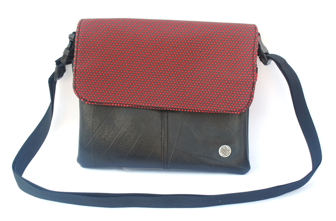 Optimus Small Crossbody Bag - Red