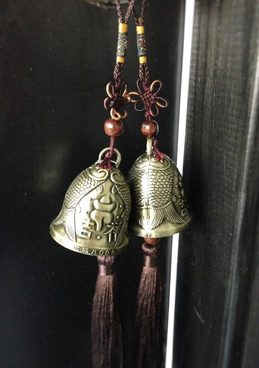 feng shui double carp bells