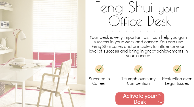 simple tips and cures to feng shui your office desk at home or business. Black Bedroom Furniture Sets. Home Design Ideas