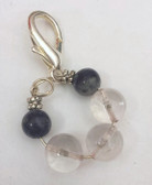 Clear quartz and lapis pendant for pet