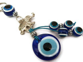 Evil Eye Charm with Elephant Keychain