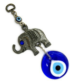 Evil Eye with Elephant Charm