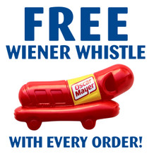 FREE Wiener Whistle with every order thru December 31, 2018