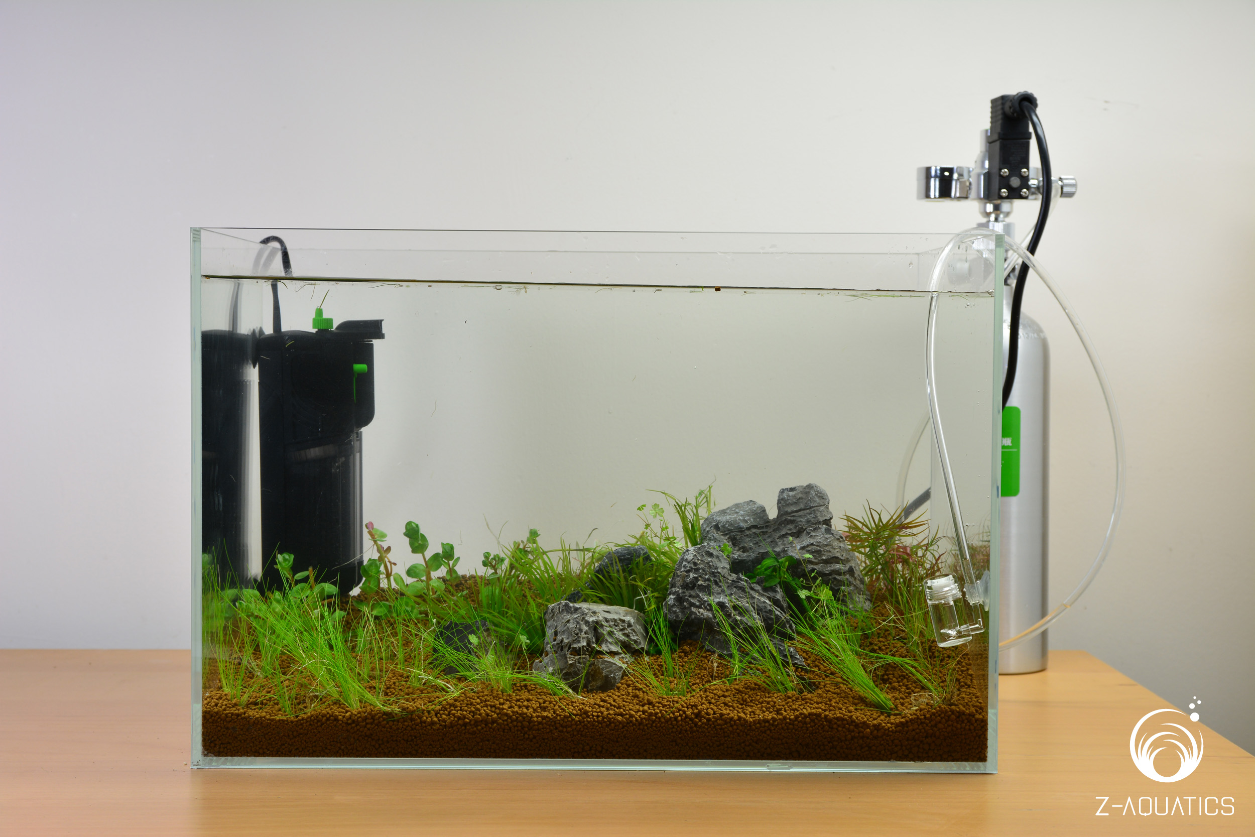 A guide for setting up a basic planted aquarium z aquatics for How to set up a fish tank filter