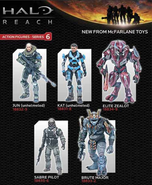 Halo Reach Series 6 Jun Unhelmeted Action Figure Case -- DEC110579