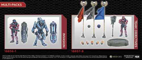 Halo Reach Series 6 Invasion Multi-Pack Action Figure Case -- DEC110584