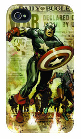 Captain America Newsreel iPhone 4/4S Barely There Case -- DEC111902