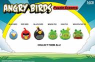 Angry Birds 3-Pk Puzzle Eraser 12-Pc Assortment -- DEC111990