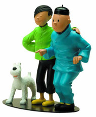 Tintin Meetings-Tintin & Tchang Resin Statue -- DEC121814