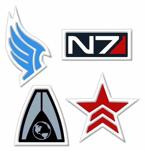 Mass Effect N7 Logo Embroidered Patch -- DEC130168
