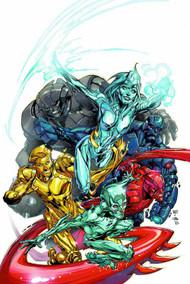 Justice League #28 (evil) -- Batman Superman Wonder Woman -- DEC130202