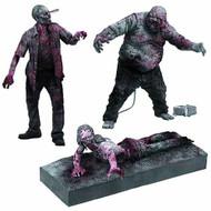 Walking Dead TV B&W Zombie Action Figure 3-Pack Case -- AUG121844