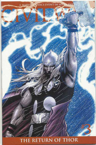 Civil War 3 Thor Returns Variant -- 2nd printing -- Millar McNiven -- COMIC00000001-004