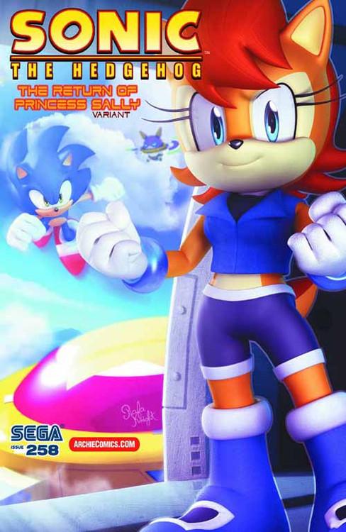 Sonic The Hedgehog #258 Return Princess Sally Variant Cover -- DEC130869