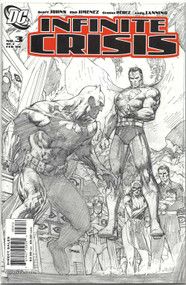 Infinite Crisis 3 Jim Lee Sketch cover 2nd printing -- Johns Jimenez -- COMIC00000035-001