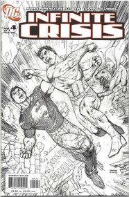 Infinite Crisis 4 Jim Lee Sketch cover 2nd printing -- Johns Jimenez -- COMIC00000035-002