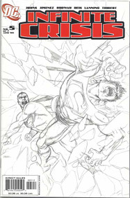 Infinite Crisis 5 George Perez Sketch cover 2nd pr -- Johns Jimenez -- COMIC00000035-003