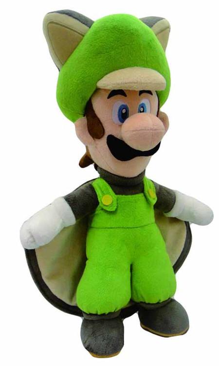 Super Mario Bros Flying Squirrel Luigi 15in Plush--Nintendo -- DEC131904