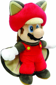 Super Mario Bros Flying Squirrel Mario 14in Plush--Nintendo -- DEC131905