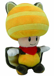 Super Mario Bros Squirrel Toad 8in Yellow Plush -- Nintendo -- DEC131907