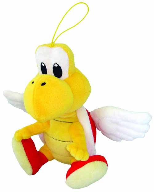 Super Mario Bros Koopa Paratroopa 6in Plush -- Nintendo -- DEC131909