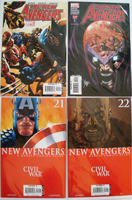 New Avengers 19, 20, 21, 22, 23, 24, 25, 26 Wolverine Iron Man Bendis -- COMIC00000084-002