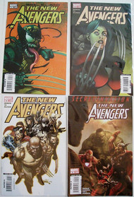 New Avengers 35, 36, 37, 40, 41, 44 Wolverine Spider-Man Bendis -- COMIC00000084-004