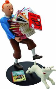 Tintin Tintin Holding Albums Resin Figure -- DEC132129