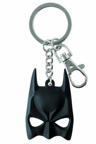 Batman Mask Rubber Pewter Keyring -- Dark Knight -- DEC132174