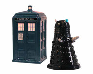 Doctor Who Tardis & Dalek Salt & Pepper Set -- DEC132190