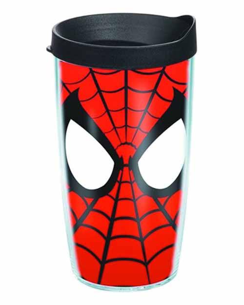 Tervis Spider-Man Mask Wrap with lid 16oz Tumbler -- DEC132225