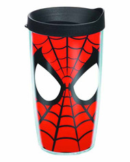 Tervis Spider-Man Mask Wrap with lid 16oz Tumbler -- DEC132225