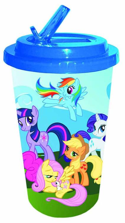 My Little Pony Flip Straw 16oz Plastic Cold Cup -- DEC132266