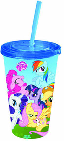 My Little Pony Friendship 16oz Cold Cup with lid & Straw -- DEC132267
